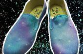 Chaussures de Galaxy bricolage peinture Spray acrylique maison