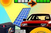Chargeur de voiture solaire au tableau de bord