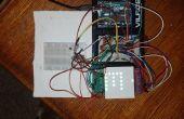 Contrôleur de matrice de LED RVB Arduino 8 x 8 avec sonde de température et les registres à décalage 4