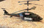 Une RC 3 canaux (gyro) hélicoptère de vol.