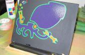 Pochoir de peinture en aérosol pour ordinateur portable