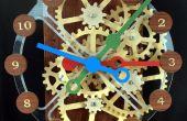 Horloge engrenage avec commande de moteur pas à pas de bois