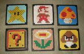 Super Mario Bros boisson sous-verres (Perler Beads)