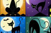 Dessin A Black Cat à l'aide de vecteurs