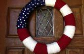 Guirlande patriotique de filé