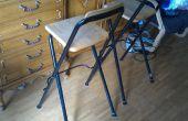 Réparer et améliorer des pieds d'une chaise : une augmentation de l'empreinte