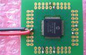 Comment soigneusement soudure (sans charges de fils!) casquettes de découplage sur microcontrôleurs SMT.