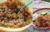 Recette de salade de riz d'été au Curry doux
