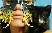 Starry Eyed Laser coupé cuir masque (aucune couture, aucun outil nécessaire)