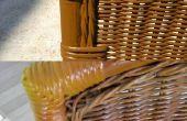 Rénovation de table et chaises de jardin en bambou