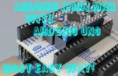La programmation Arduino Pro Mini en utilisant Arduino Uno et ArduShield - sans les câbles