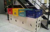 Comment faire un bac de recyclage de boîtes de soda (et panneaux de particules)
