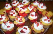 Cupcakes aux fraises de Swirl