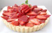 Strawberry Shortcake tarte (avec crème de pâtisserie à micro-ondes!)
