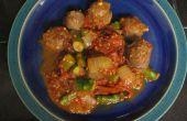 Saucisses de chevreuil aux asperges et tomates rôties