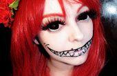 Halloween maquillage utilisant la sclère cercle des lentilles