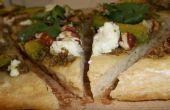 Pizza fromage de chèvre au Pesto de noix de pécan: Tex-ican Style