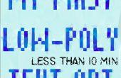 Low-Poly texte effet en utilisant Photoshop [