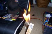 Flamme jetant altoids guitare