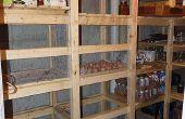 Chambre froide au sous-sol de la maison / stockage Canning / Cold-storage unit - Guide pour le construire -