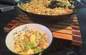 Oeuf riz frit en 15 Minutes