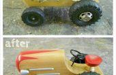 Restauration d'un tracteur jouet en bois