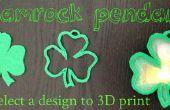 Fête de la Saint Patrick-3D imprimé trèfle pendentif