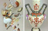 Réparation et remplissage cassé céramique et poterie