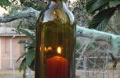 Bouteille de vin suspendus lanterne