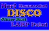 Nerf Hammershot Blaster Disco Glitter Blast LARP peinture