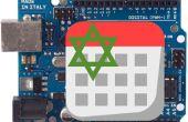 Horloge LCD avec Date du calendrier hébraïque et un thermomètre