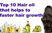 Top 10 des cheveux naturels huile pour favoriser la croissance de cheveux plus rapide
