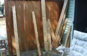 Récupéré des palettes en bois Double chaise banc