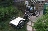 Electric Semi-recumbant Bicycle, w/ Battery Trailer