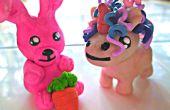 Cotton Candy argile Bunny et Licorne fou