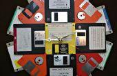 Faire une horloge de mur de disquette