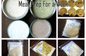 Préparation des repas pour une semaine