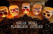 Crâne sans flamme lampions de sucre