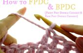 Comment recto et verso post double crochet (FPDC & BPDC)