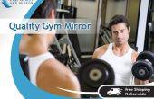 Installation à domicile Gym mur miroir par Fab verre et miroir