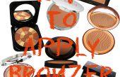 Comment appliquer la poudre bronzante