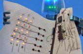 Colle conductrice et fil conducteur : Faire un écran LED et un Circuit de tissu qui s'enroule.