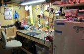 Mon espace de travail Pegboard sous-sol