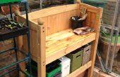 Lit de cabine de recyclage dans un banc de mise en pot