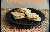 Biscuits Graham Sandwiches avec Orange remplissage de crème
