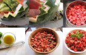 Salade de melon d'eau avec le cerfeuil