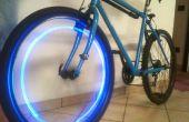 Bleu LED vélo roue