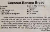 Pain aux bananes noix de coco