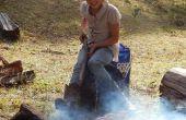 Comment faire un feu de Camp Grill - coût nul