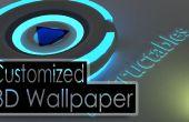 Faire un 3D Wallpaper personnalisés à l'aide de logiciels libres